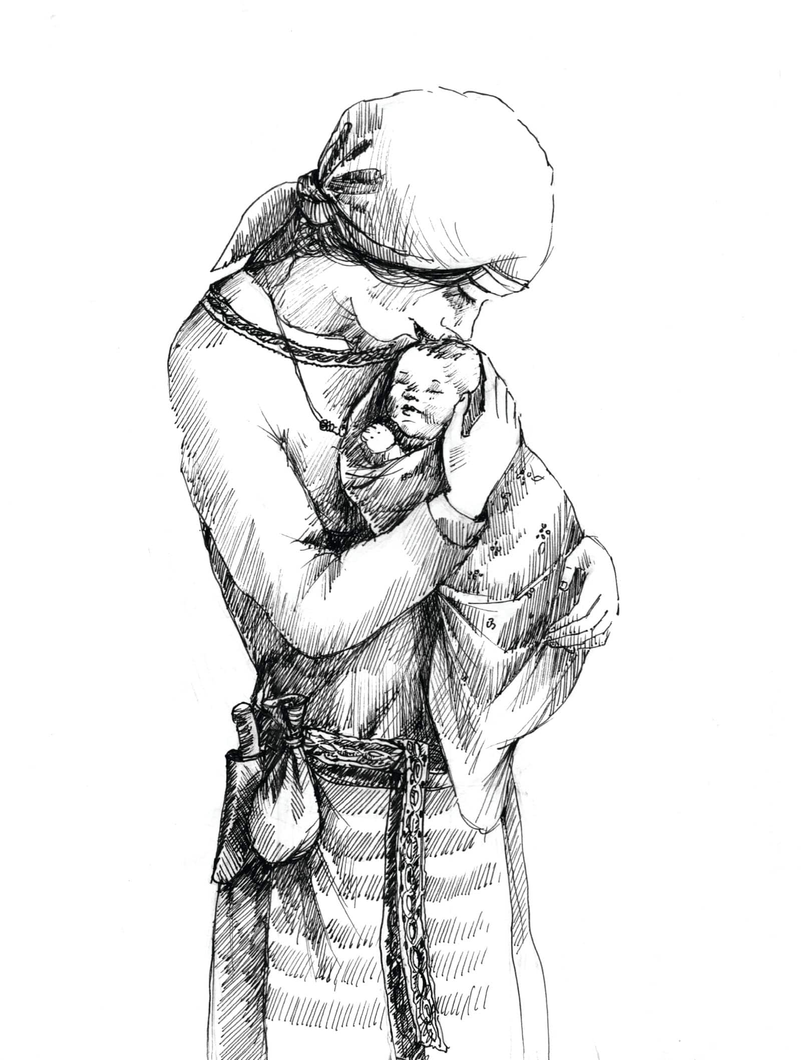 Noc między Tam i Tu - Marta Krajewska - ilustracja b&w 08