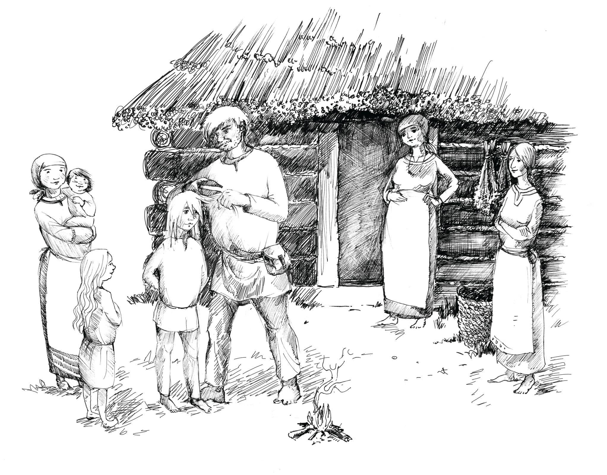 Noc między Tam i Tu - Marta Krajewska - ilustracja b&w 10